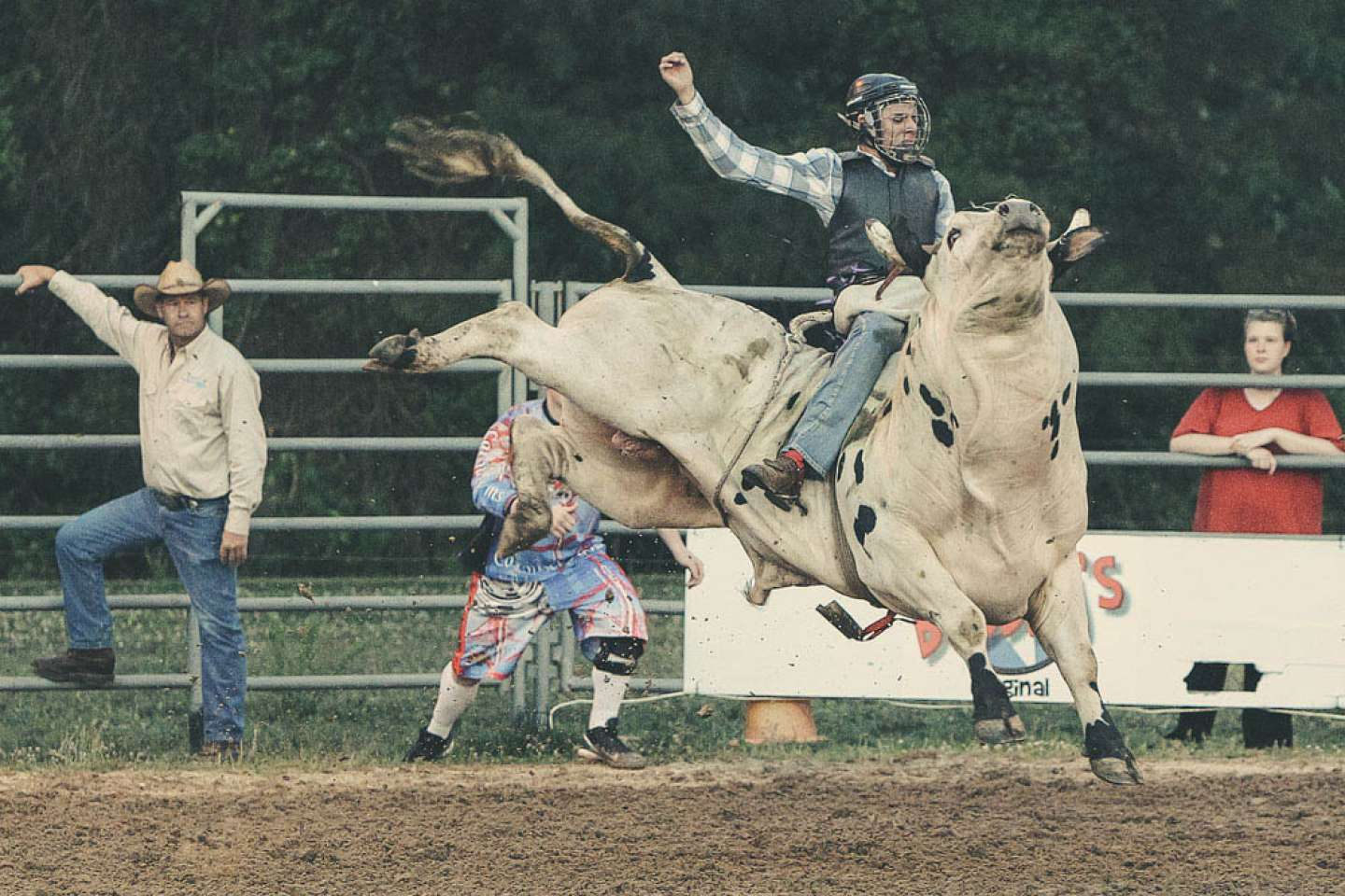 Carousel Farms Rodeo 2014 bull riding and barrel racing
