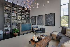 This real estate photography shoot in Raleigh was for this cool loft