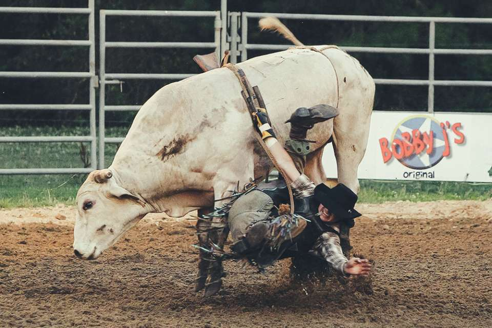 Carousel Farms Rodeo 2014 (part 2) bull riding and barrel racing